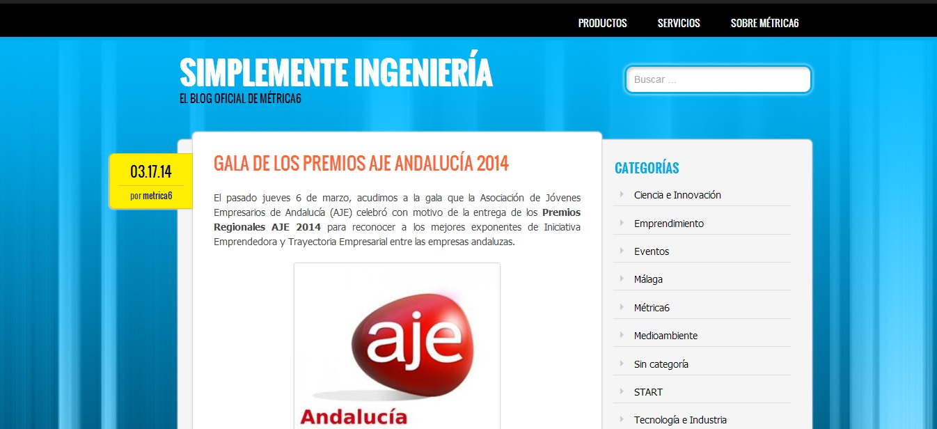 Cambio de blog. Innovación, Métrica6, ingeniería, desarrollo de producto.